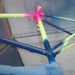 Fluorescent-bike-frame