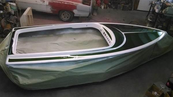 Black Metallic Boat Paint