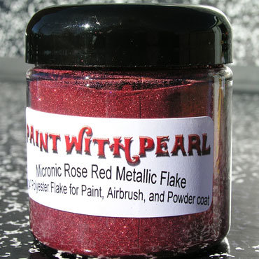 4 fl oz jar Rose Red Paint Flake (1 cup).