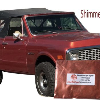 Shimmer Red Pink Copper Candy Pearls on a Chevy Truck.