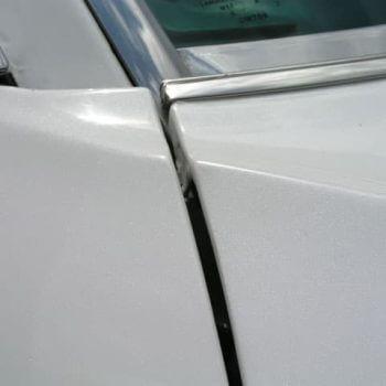 White Sparkle Pearl on white car.