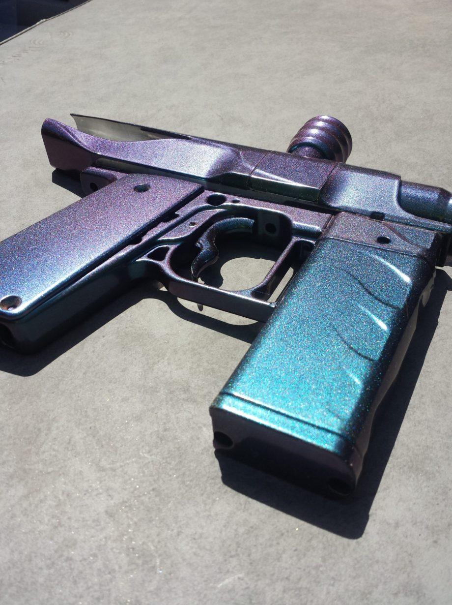 red blue green paintball gun
