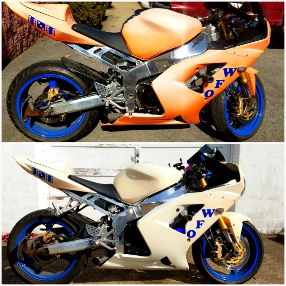 orange thermochromic bike