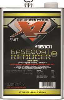 Fast Basecoat reducer Excel Autobody for mixing Pearl Paint, Candy Paint Colors, Chameleon Paint, Metal Flakes, Candy Concentrates, Glow Pigments, Heat Reactive Thermochromic Pigment , Metallic Pigments.