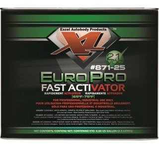 EuroPro Fast Activator 2.5 Litres for EuroPro topcoat over Pearl Paint, Candy Paint Colors, Chameleon Paint, Metal Flakes, Candy Concentrates, Glow Pigments, Heat Reactive Thermochromic Pigment , Metallic Pigments.