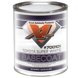 Toyota Super White Basecoat picture of gallon can.