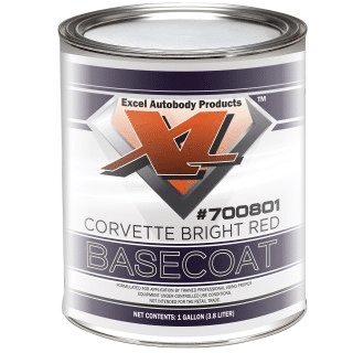 Corvette red base coat gallon