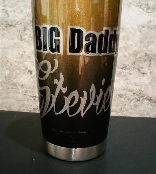 Custom Painted Big Daddy Yeti Cup.