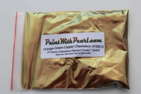 25 Gram Bag 4739CS Green Gold Bronze chameleon paint pearl.