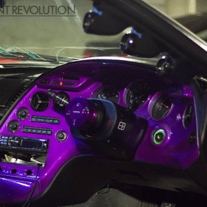 4759RBP Red Blue Purple Chameleon paint on dash board.