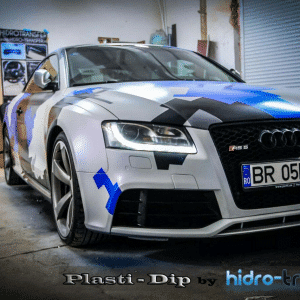 Audi Dipped in Hydro Transfer using Blue Ghost, Violet Ghost, Electric Blue, Black gunmetal. All this using dip or other coatings Pearls from Paint with Pearl.