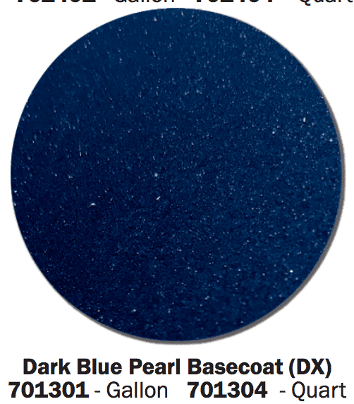 Dark Blue Pearl Base Coat swatch.