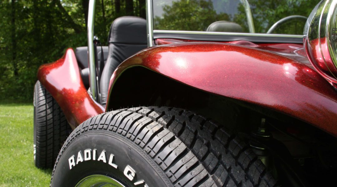 dune buggy with fire red flake