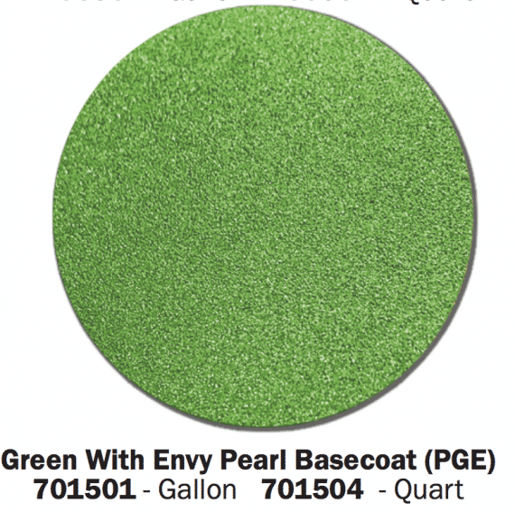 Green with Envy base coat color swatch.