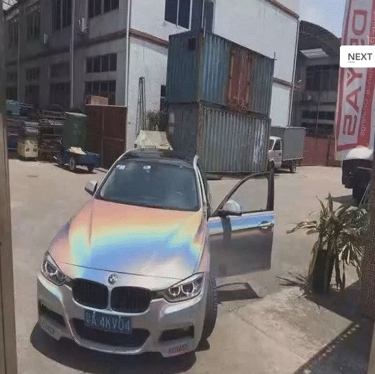 Holographic Pearl on BMW.