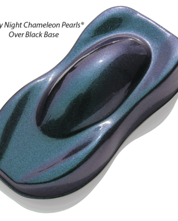 Starry Night Custom Paint Teal Blue Purple super dark midnight chameleon over a black base coat.