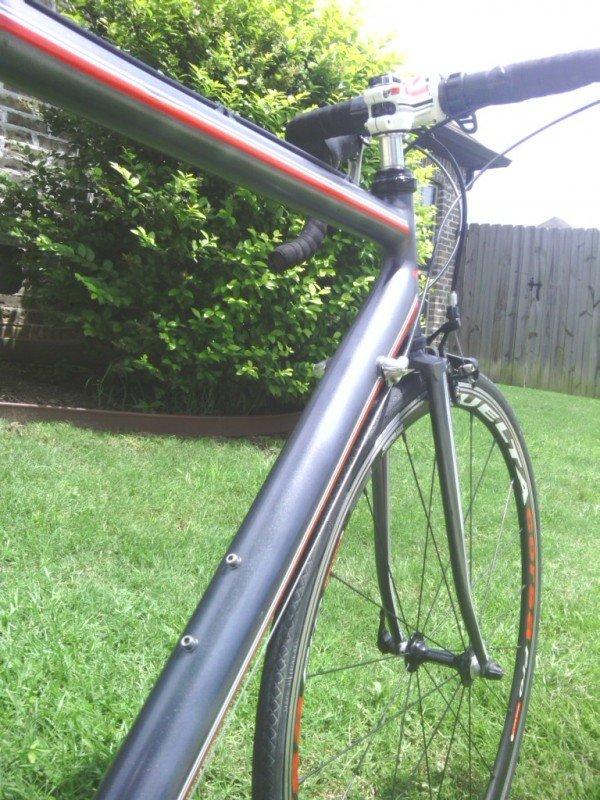 black gunmetal candy pearls on road bike