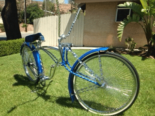 Crazy Custom Bike painted with Royal Blue and Sapphire Blue Candy.
