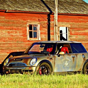 This is no rust bucket mini cooper. It is an effects paint that is getting lots of notoriety for home made DIY custom paint jobs. Shop custom paint, chameleon pigments, candy pigments here.