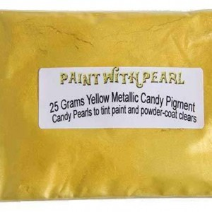 Yellow metallic paint, or candy pearl is a warm yellow custom paint.